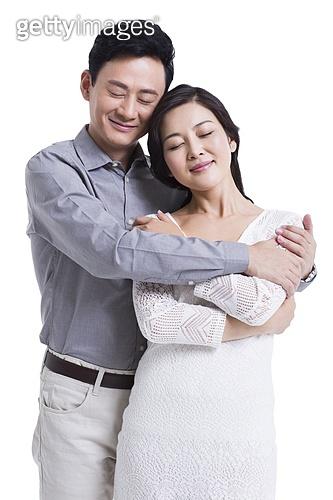 Sweet couple embracing