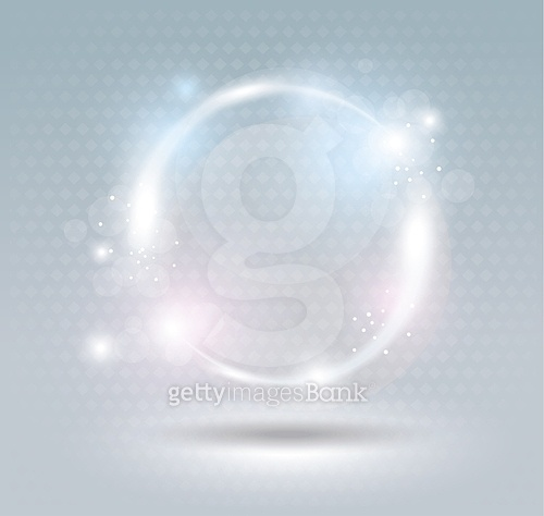 Abstract fractal blue background with crossing circles. Disco li