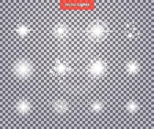 Set Glows Bright Star Light Fireworks