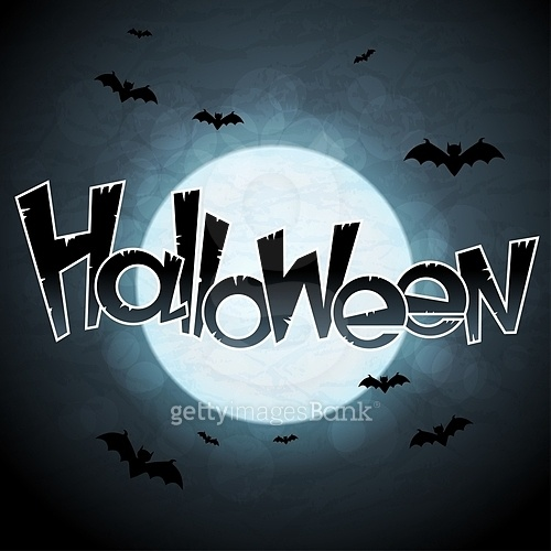 EPS 10 Halloween background with moon and bats
