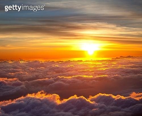 Sunset scene on Haleakala,Hawaii