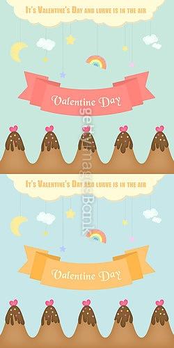 발렌타인데이, 초콜릿 일러스트