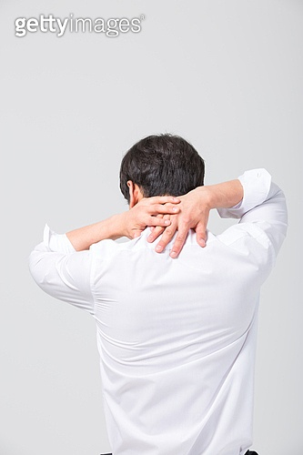 Korean office worker with pain