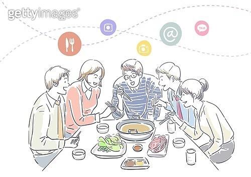 The social dining illust, society