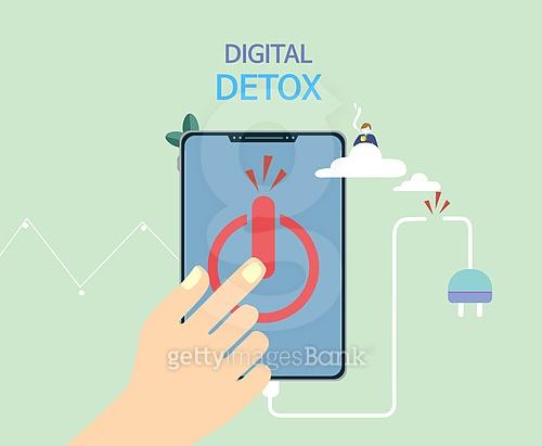 일러스트, 디지털, 디지털 (기술), 중독 (컨셉), 디톡스