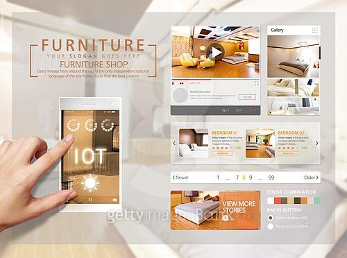 모바일템플릿, User interface (Topic), UI KIT, 휴대폰 (전화기), 건축, 인테리어, 부동산 (컨셉), 가구