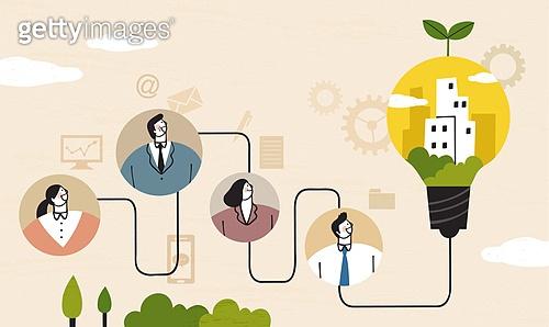 비즈니스, 비즈니스맨, 팀워크, 협력 (컨셉), 함께함 (컨셉), 희망, 발전 (컨셉)