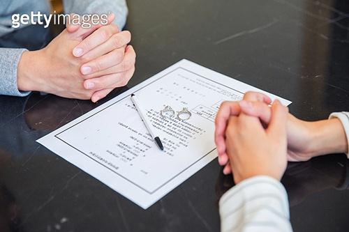 부부, 커플, 이혼, 갈등, 문제, 서류, 합의 (컨셉), 헤어짐 (사랑의어려움)