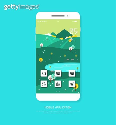 일러스트, 휴대폰 (전화기), 웹템플릿, 모바일템플릿, 버튼, 계절, 메인페이지 (이미지)