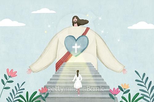 기독교, 종교, 예수, 회복 (컨셉), 십자가, 평화