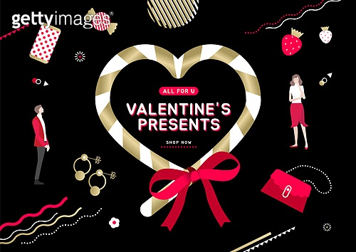 축하이벤트 (사건), 상업이벤트 (사건), 발렌타인데이 (홀리데이), 커플, 사랑 (컨셉), 세일 (사건), 라벨, 리본 (장식품), 하트