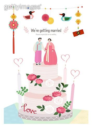부부, 결혼, 신혼부부 (부부), 결혼식, 청첩장, 전통혼례, 한복, 사랑 (컨셉), 웨딩케이크