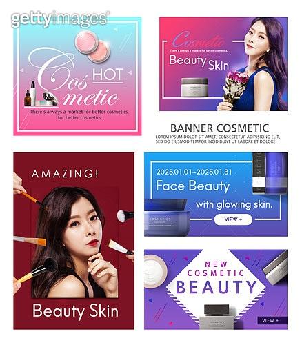 배너, 웹배너 (배너), 팝업, 뷰티, 화장품 (몸단장제품), 아름다움, 한국인, 여성, 미녀 (아름다운사람), 스킨케어 (뷰티)