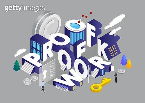 4차산업혁명 (산업혁명), 기술, 타이포, 미니어쳐, 비즈니스, 가상화폐