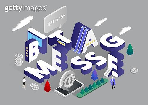 4차산업혁명 (산업혁명), 기술, 타이포, 미니어쳐, 비트코인, 메시지 (정보매체), 자료 (정보매체), 바이러스