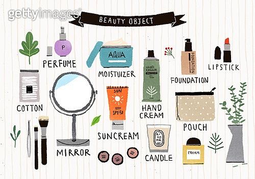 소품 (구도), 라이프스타일, 뷰티, 화장거울, 식물, 향수, 립스틱