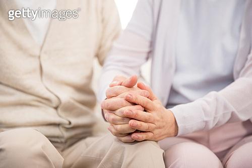 한국인, 노인, 부부, 노인커플 (이성커플), 손잡기, 노후대책 (사회현상)