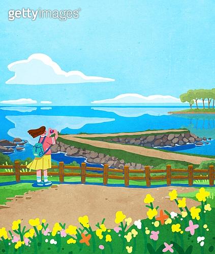 여행, 풍경 (컨셉), 여행지, 혼자여행 (여행), 제주시 (제주도), 꽃밭, 바다