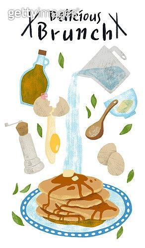 레시피, 요리 (음식상태), 음식재료, 브런치 (식사), 팬케이크, 올리브오일