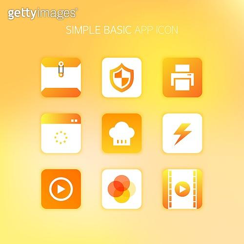 아이콘, 아이콘세트 (아이콘), 컬러, 모바일어플리케이션 (인터넷), 단순 (컨셉), 스마트폰, 픽토그램, 버튼, 쇼핑