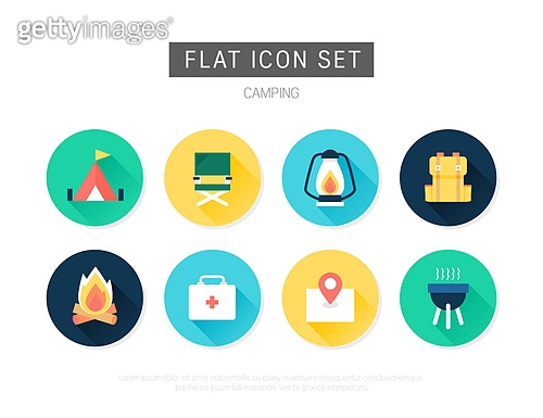 아이콘, 아이콘세트 (아이콘), 평면 (물체묘사), 플랫아이콘, 여행, 컬러, 휴가