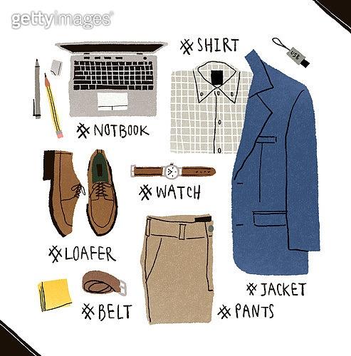 남성복, 패션, 손그림, 옷, 액세서리 (인조물건), 재킷 (코트), 노트북