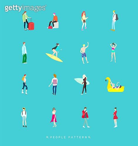 사람, 패턴, 아이콘, 아이콘세트 (아이콘), 취미, 여행, 서핑, 라이프스타일