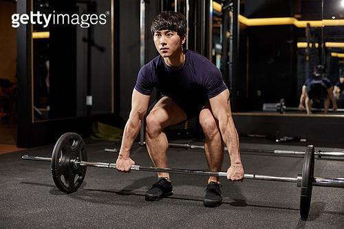 한국인, 남성 (성별), 웨이트트레이닝 (근육강화운동), 힘, 역기, 들어올리기 (물리적활동)