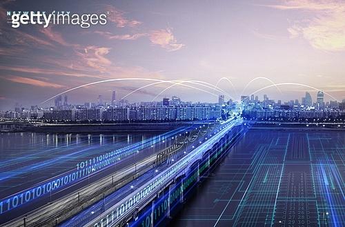 백그라운드, 도시, 고층빌딩 (회사건물), 건물외관 (건설물), 스마트시티, 4차산업혁명, 빅데이터, 첨단기술, 컴퓨터네트워크 (컴퓨터장비), 무선기술 (기술)