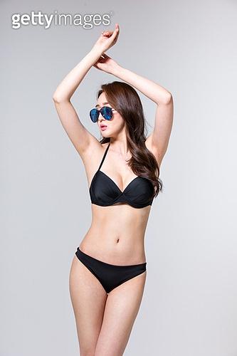 여성, 비키니, 여름, 엷은색선글라스 (선글라스), 다이어트 (체형관리)