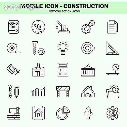 벡터파일 (일러스트), 아이콘, 아이콘세트 (아이콘), 모바일아이콘, 웹아이콘, 픽토그램, 라인아이콘, 단순 (컨셉), 비즈니스, 건축, 건설업 (산업), 공구 (작업도구), 안전모
