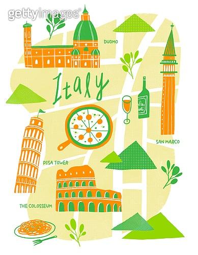 지도, 여행, 랜드마크, 건물외관 (건설물), 길, 지도 (운항장비), 건축 (주제), 이탈리아 (남부유럽), Duomo Santa Maria Del Fiore (플로렌스-이탈리아), 피사의사탑