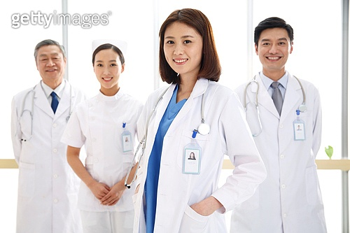 Confident medical workers