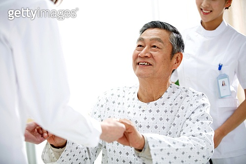 Medical workers and elderly patients