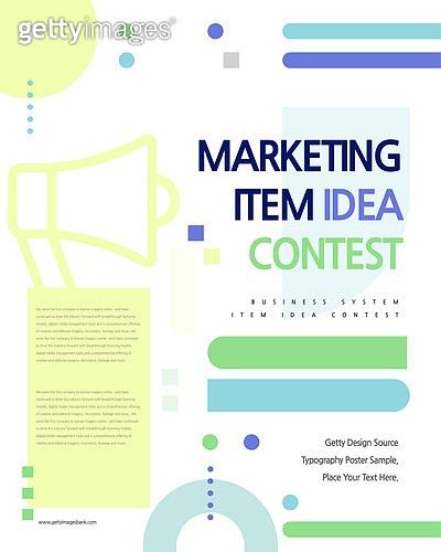 포스터, 타이포, 공모전, 대회, 이벤트, 마케팅, 아이디어, 메가폰 (정보장비), 기하학모양 (도형)