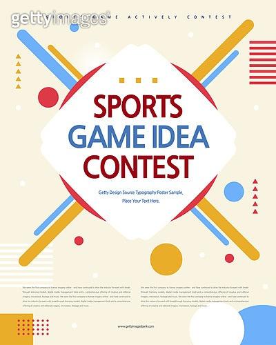 포스터, 타이포, 공모전, 대회, 이벤트, 스포츠, 아이디어, 도형, 기하학모양 (도형)