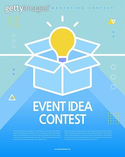 포스터, 타이포, 공모전, 대회, 이벤트, 아이디어, 전구, 상자