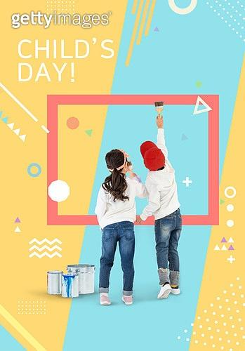 편집디자인, 그래픽이미지 (Computer Graphics), 포스터, 도형, 어린이 (인간의나이), 초등학생, 취미 (주제), 교육 (주제), 페인트 (예술도구), 미술 (미술과공예)
