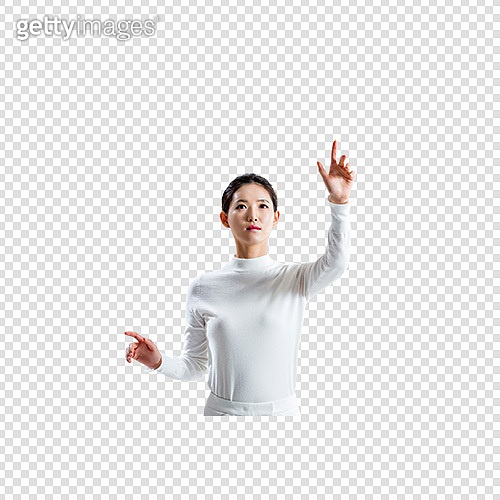 파워포인트 (이미지), PNG, 누끼, 비즈니스, 가상현실시뮬레이터 (컴퓨터장비), 초현대적 (컨셉), 손짓, 흰색 (색상), 행동 (모션), 여성