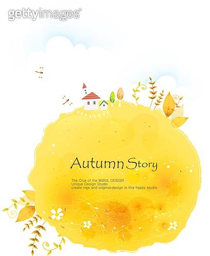 일러스트, 벡터파일 (일러스트), 계절, 가을, 단풍 (가을), 들판