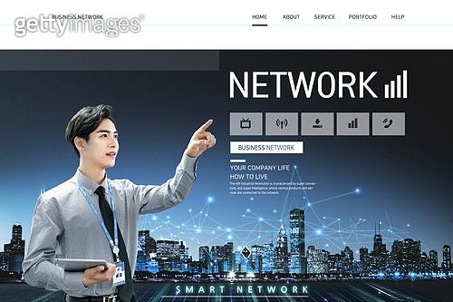 웹템플릿, 메인페이지 (이미지), 비즈니스, 컴퓨터네트워크 (컴퓨터장비), 인터넷, 5G, 도시, 4차산업혁명 (산업혁명), 비즈니스맨