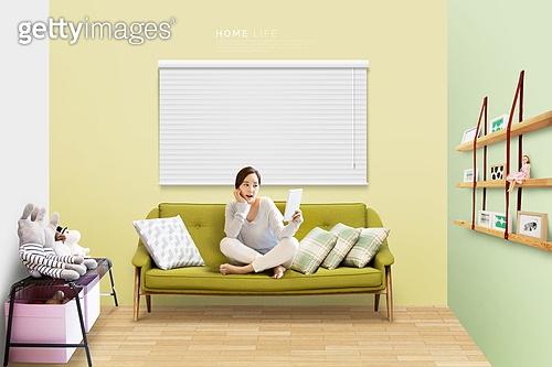 라이프스타일 (주제), 실내, 집안 (집), 집, 행복 (컨셉), 즐거움 (컨셉), 독신 (역할)