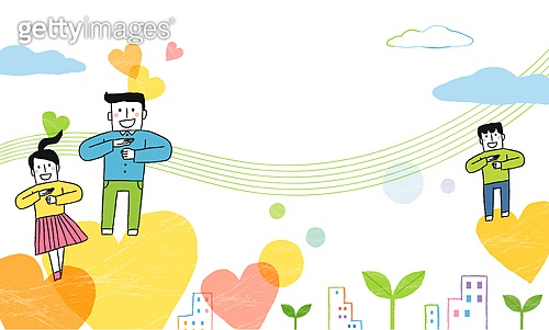 사회복지 (사회현상), 희망, 사람, 공동체, 공동체 (컨셉), 하트, 새싹, 수화, 청각장애