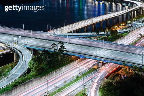 서울 (대한민국), 한국 (동아시아), 도시, 도심지 (구역), 도시풍경 (풍경), 도로, 교통, 교통체증 (교통), 야경, 다리 (인공구조물), 풍경 (컨셉)