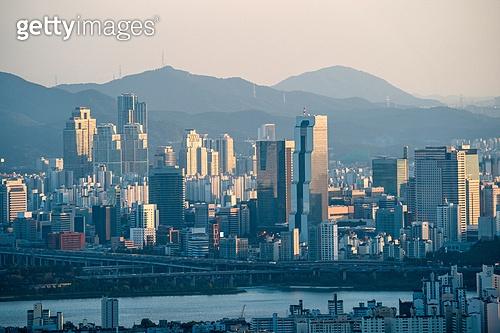 서울 (대한민국), 한국 (동아시아), 도시, 도심지 (구역), 부동산, 고층빌딩 (회사건물), 스모그 (대기오염)