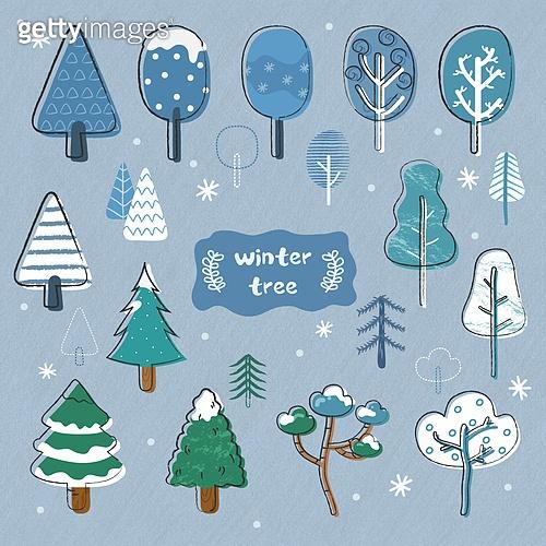 벡터파일 (일러스트), 겨울, 눈 (얼어있는물), 라벨 (메시지), 아이콘세트 (아이콘), 그림아이콘, 크리스마스, 나무