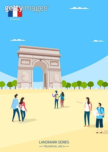여행, 랜드마크 (묘사), 휴가, 세계여행, 프랑스 (중부유럽), 파리 (프랑스), 개선문 (건설물)