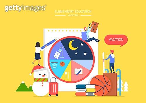 교육 (주제), 학생, 교과목, 미니어쳐, 겨울, 겨울방학, 생활계획표 (프로젝트), 눈사람