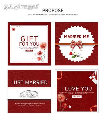 웹템플릿, 웹배너 (인터넷), 팝업, 상업이벤트 (사건), 결혼, 프로포즈, 결혼 (사건), 축하 (컨셉), 프로포즈 (축하이벤트), 부케