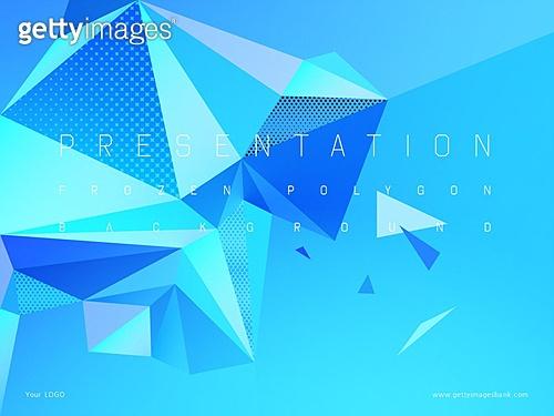 파워포인트, 메인페이지, 백그라운드, 기하학모양 (도형), 로우폴리 (물체묘사), 겨울, 얼음, 다이아몬드 (원석), 삼각형 (이차원모양), 패턴, 결정체